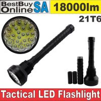 High Power Tactical Hunting Flashlight 18000lm 21 x CREE XML-T6 LED Torch