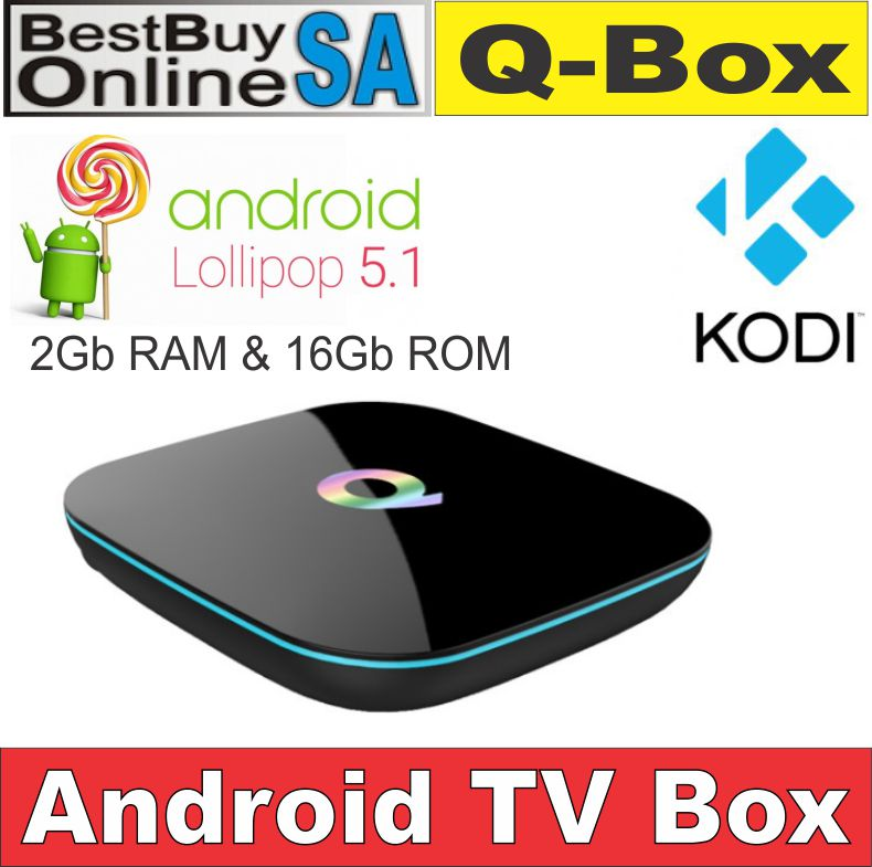 Q-box Android TV Box 5.1 2G/16G KODI 16.0 Pre-installed