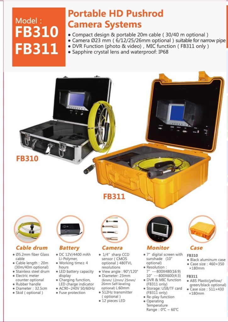 FB310-FB311 Pipe Inspection Camera
